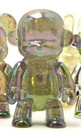 Metallic Monqee Qee - Clear Glitter  figure, produced by Toy2R. Front view.