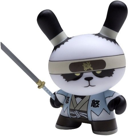 Ornery Panda Shinsengumi figure by Huck Gee, produced by Kidrobot. Front view.