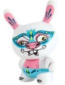Venetian Rabbit Dunny figure by Scribe, produced by Kidrobot. Front view.