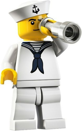 Sailor figure by Lego, produced by Lego. Front view.