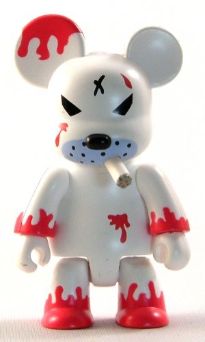 Redrum figure by Frank Kozik, produced by Toy2R. Front view.