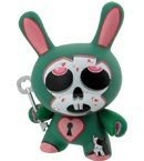 Eric Merrill Dunny figure by Eric Merrill, produced by Kidrobot. Front view.