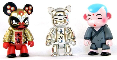 Chinese New Year 2007 Silver Set figure by Toy2R, produced by Toy2R. Front view.