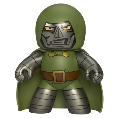 Dr. Doom figure, produced by Hasbro. Front view.