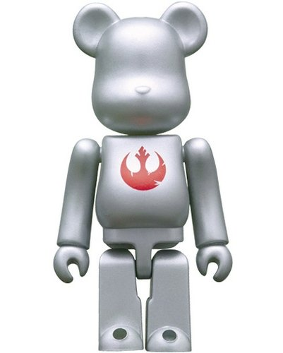 Rebel Alliance Logo 70% Be@rbrick figure by Lucasfilm Ltd., produced by Medicom Toy. Front view.