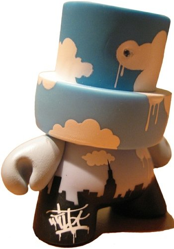 City of Clouds figure by Tilt, produced by Kidrobot. Front view.