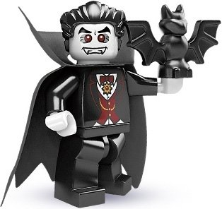 Vampire figure by Lego, produced by Lego. Front view.