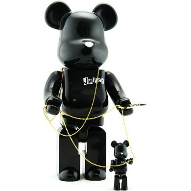 Jwyed Be@rbrick 100% & 400% Set figure, produced by Medicom Toy. Front view.