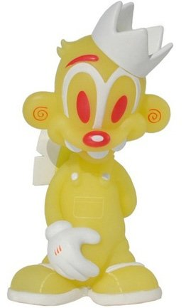 Billy Bananas - Toxic Glow figure by Tristan Eaton, produced by Thunderdog Studios. Front view.
