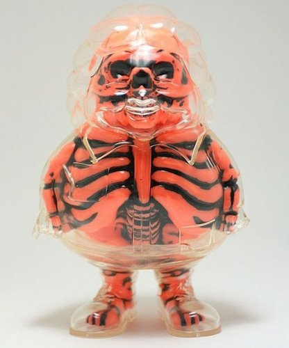 X-Ray MC Supersized - Halloween Orange figure by Ron English, produced by Secret Base. Front view.