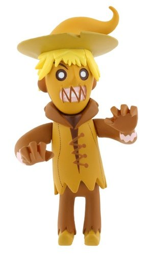 Sammy Scarecrow figure by Patricio Oliver (Po!), produced by Kidrobot. Front view.