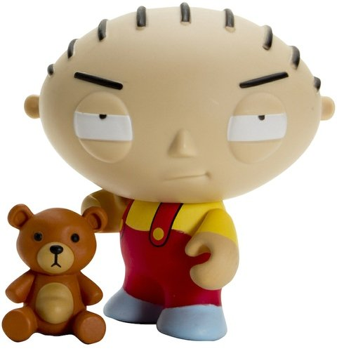 Stewie figure, produced by Kidrobot. Front view.