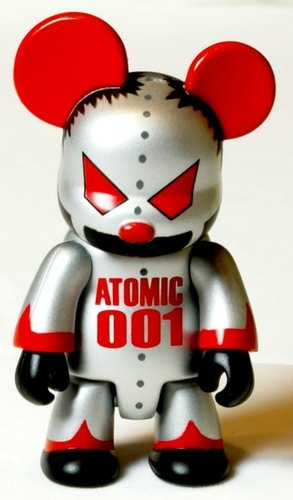 Atomic Bear figure by Mad Barbarians, produced by Toy2R. Front view.