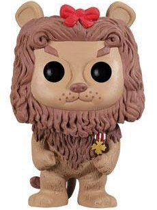 Cowardly Lion figure, produced by Funko. Front view.