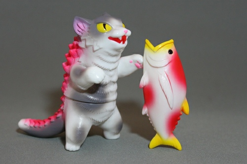 Kaiju Negora with Big Fish - FOE Gallery exclusive