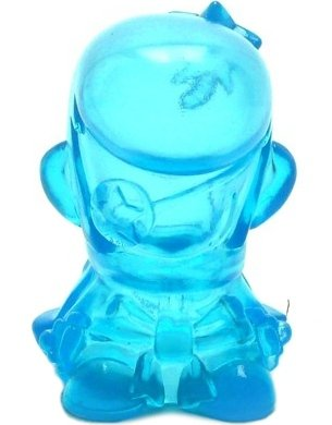 Samurai - Clear Blue figure by Kaijin, produced by Wonderwall. Front view.