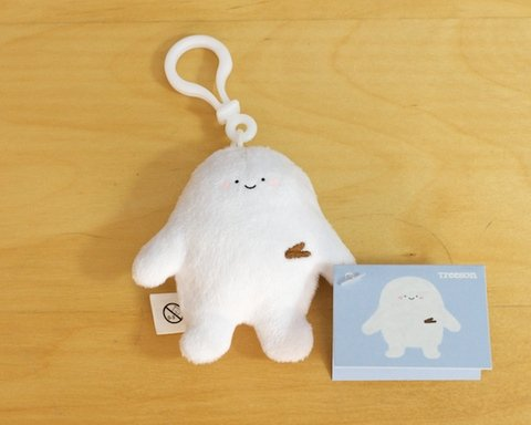 Treeson Plush Keychain figure by Bubi Au Yeung, produced by Crazylabel. Front view.