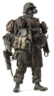 After Hours Stealth Grunt figure by Ashley Wood, produced by Threea. Front view.