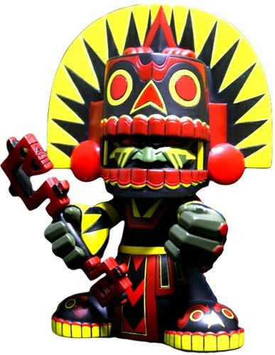 Mictlan Peyote - Dragatomi Exclusive figure by Jesse Hernandez, produced by Kuso Vinyl. Front view.