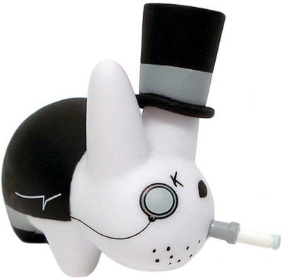 Top Hat figure by Frank Kozik, produced by Kidrobot. Front view.