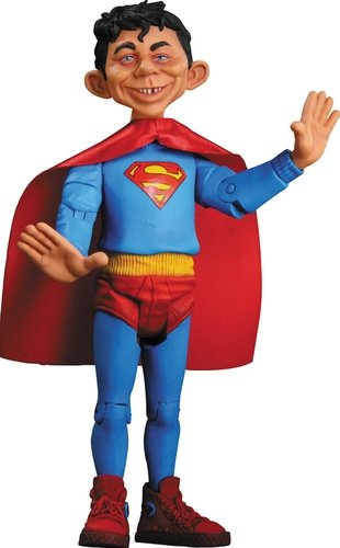Alfred as Superman figure, produced by Dc Direct. Front view.