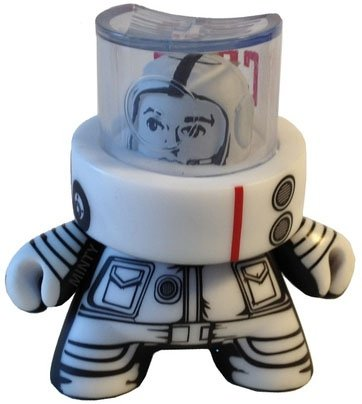 Astronaut - White figure by Jon-Paul Kaiser, produced by Kidrobot. Front view.