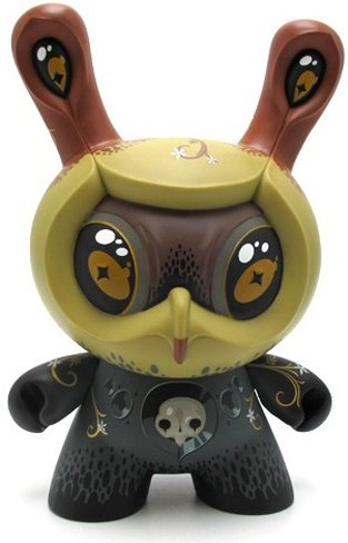 Atropa Dunny figure by Jason Limon, produced by Kidrobot. Front view.