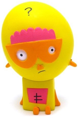Collie figure by Jon Burgerman, produced by Kidrobot. Front view.
