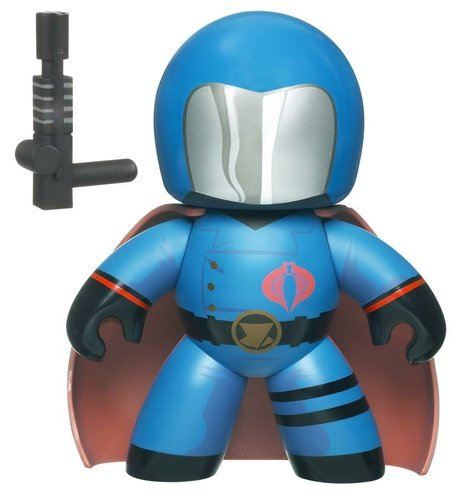 Cobra Commander figure, produced by Hasbro. Front view.