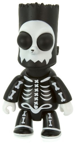 Bart Bone Skeleton Toyer 2 figure by Matt Groening, produced by Toy2R. Front view.