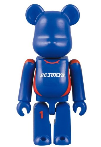 FC Tokyo Be@rbrick 70% figure, produced by Medicom Toy. Front view.