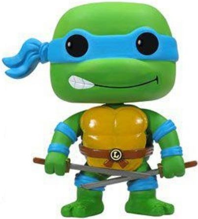 Leonardo figure, produced by Funko. Front view.