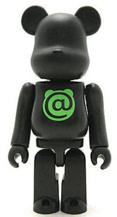 Basic Be@rbrick - @  figure, produced by Medicom Toy. Front view.