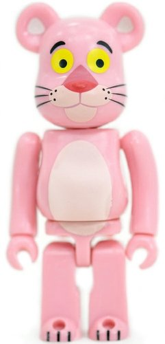Pink Panther Be@rbrick 100% figure, produced by Medicom Toy. Front view.