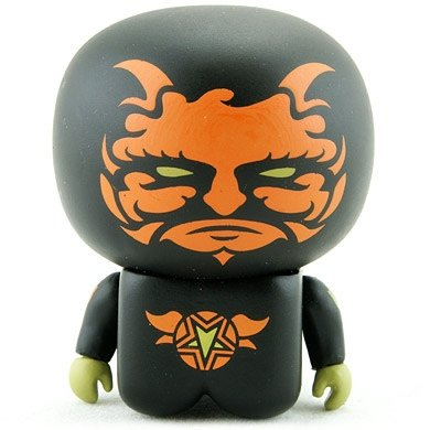 Boo Demon Unipo figure by Unklbrand, produced by Unklbrand. Front view.