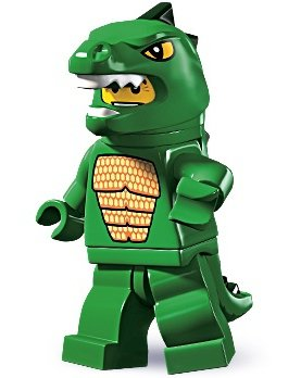 Lizard Man figure by Lego, produced by Lego. Front view.