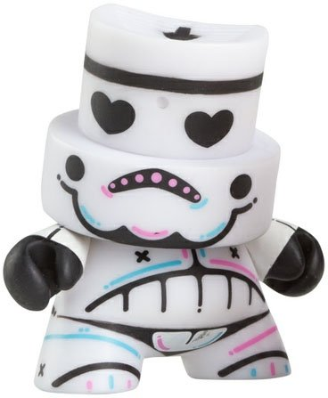 SkullTrooper  figure by Kronk, produced by Kidrobot. Front view.
