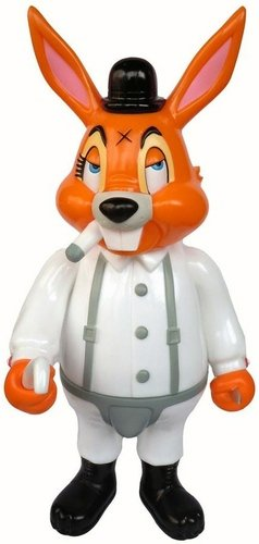A Clockwork Carrot figure by Frank Kozik, produced by Blackbook Toy. Front view.