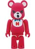 Hysteric Bear Be@rbrick 100% - Red