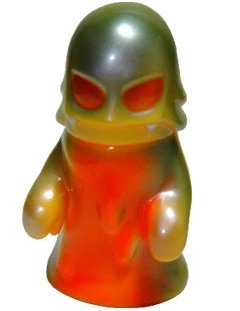 Mini Damnedron - Piranha Yellow figure by Rumble Monsters, produced by Rumble Monsters. Front view.