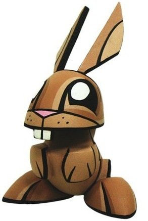 Rabbit figure by Joe Ledbetter, produced by Play Imaginative. Front view.