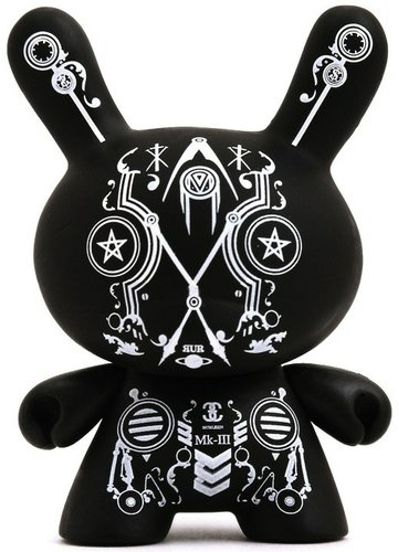 Kenzo Minami Dunny figure by Kenzo Minami, produced by Kidrobot. Front view.