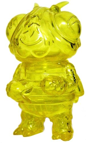 Boris the Bee - Clear Yellow figure by Bwana Spoons, produced by Gargamel. Front view.