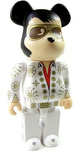 Elvis 30th Anniversary Be@rbrick 400% figure, produced by Medicom Toy. Front view.