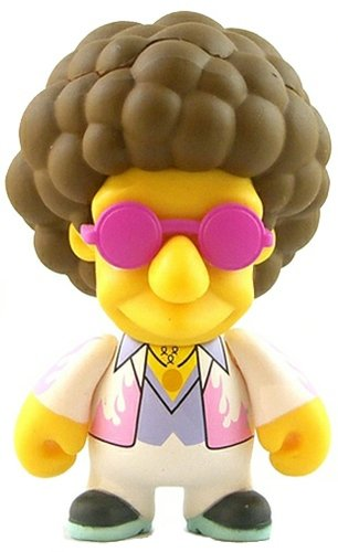 Disco Stu figure by Matt Groening, produced by Kidrobot. Front view.