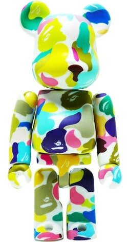 Bape - Secret Be@rbrick Series 22 figure by Bape, produced by Medicom Toy. Front view.