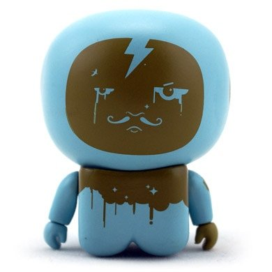 Blue Onesies Unipo figure by Unklbrand, produced by Unklbrand. Front view.