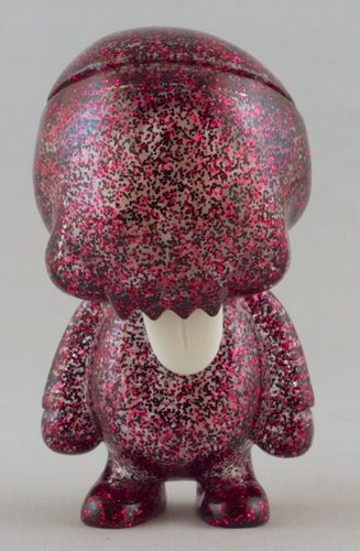 Young Gohst Pink Glitter figure by Ferg X Grody Shogun, produced by Lulubell Toys. Front view.