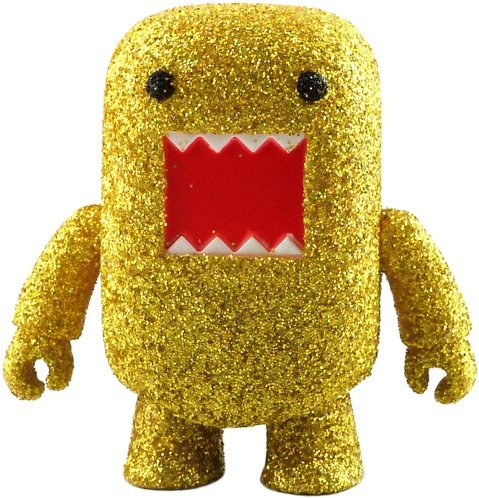 Yellow Spark Domo Qee figure by Dark Horse Comics, produced by Toy2R. Front view.