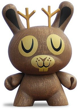 Jackalope figure by Amanda Visell, produced by Kidrobot. Front view.
